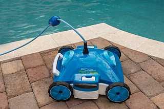 Aquabot Pool Rover S2-40 Side View at Pool